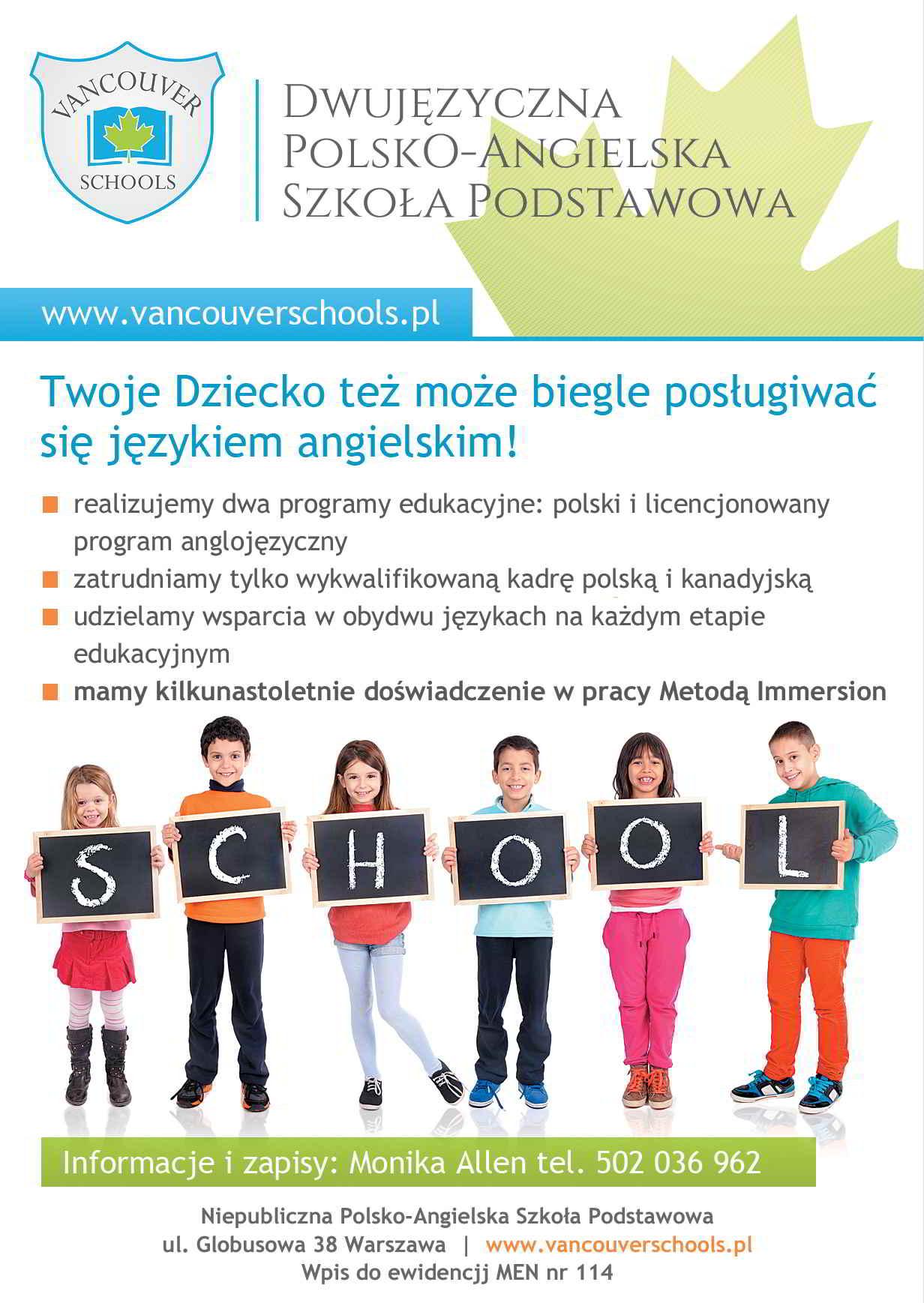 szkoła dwujęzyczna