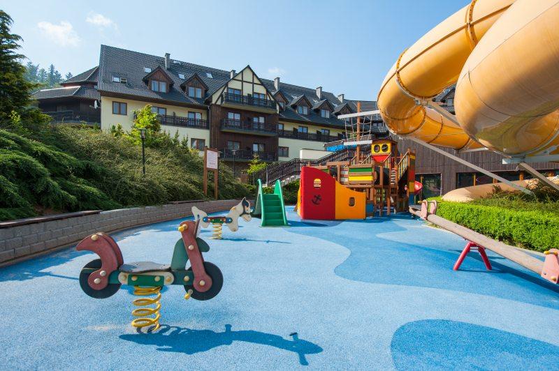 hotele w górach dla rodzin plac zabaw