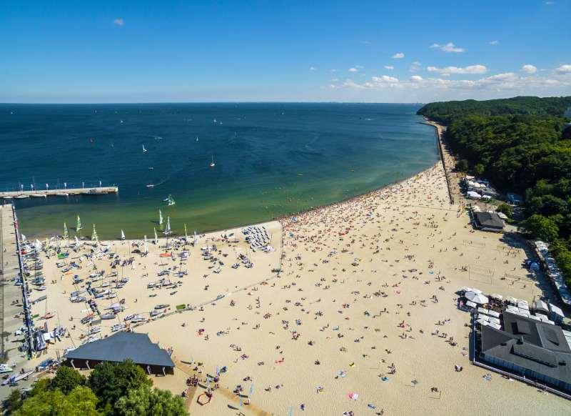 co warto zobaczyć w Gdyni plaża śródmiejska