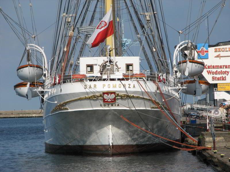 Gdynia atrakcje Dar Pomorza