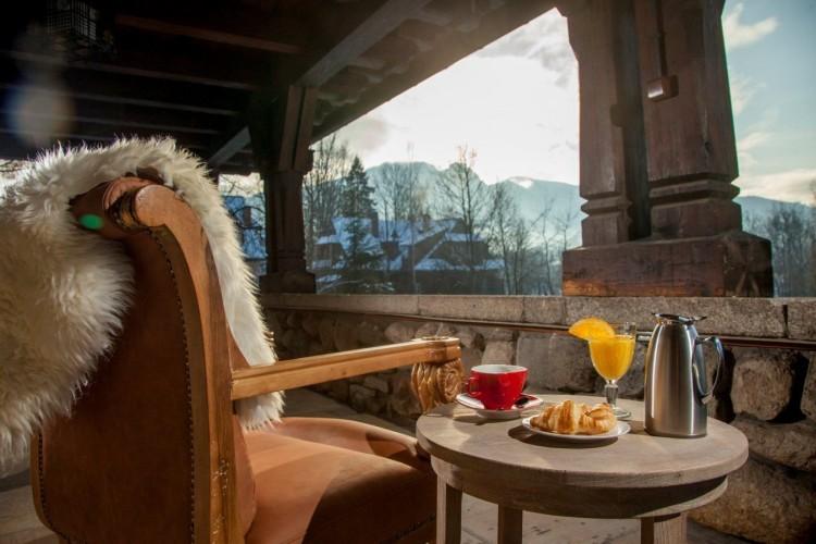 hotel w Zakopanem widok z tarasu