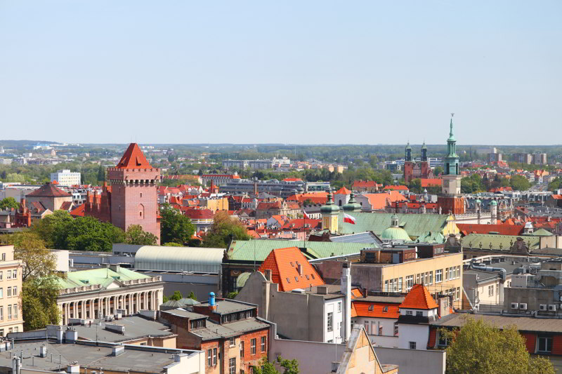 Hotel Altus widok na Poznań
