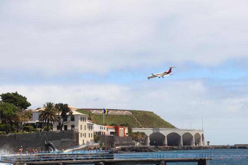 plaże na Maderze samolot santa cruz