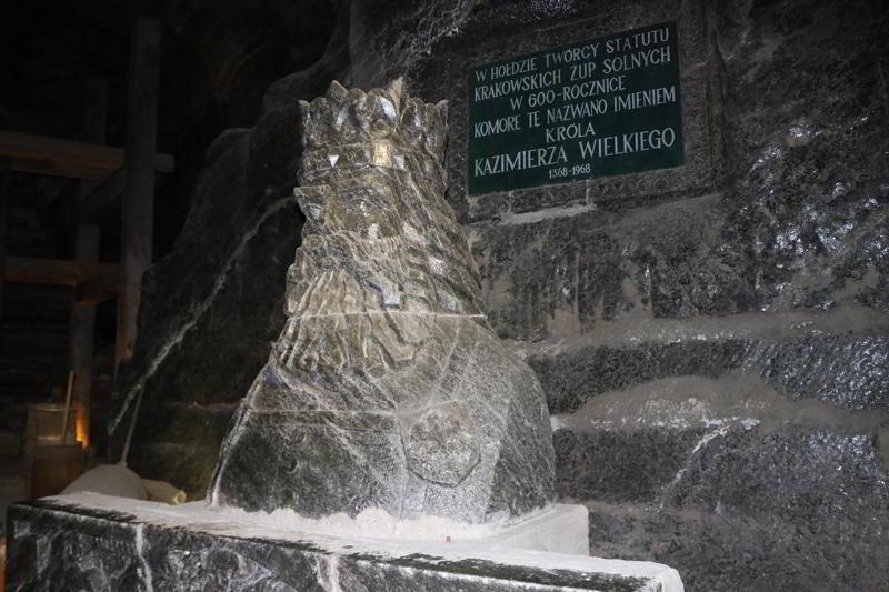 Kopalnia Soli Wieliczka rzeźba