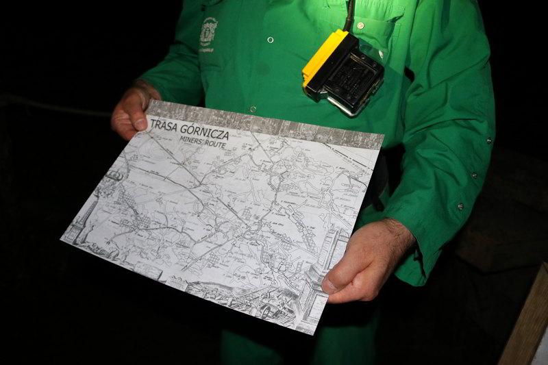 Kopalnia Wieliczka mapa trasa górnicza