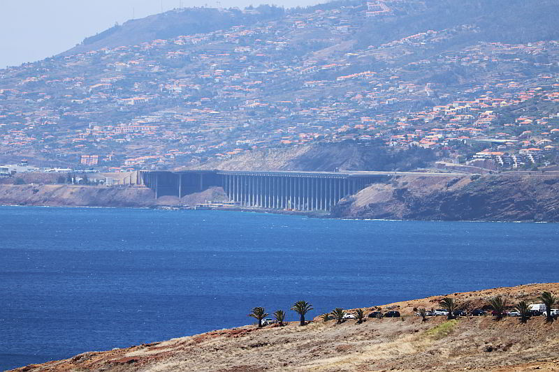 widok na lotnisko na Maderze