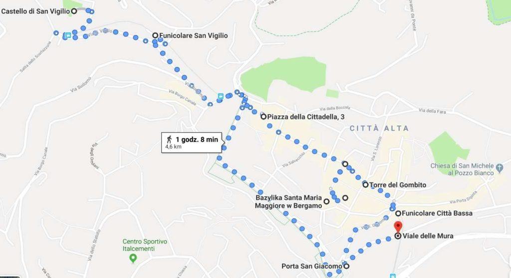 Bergamo mapa