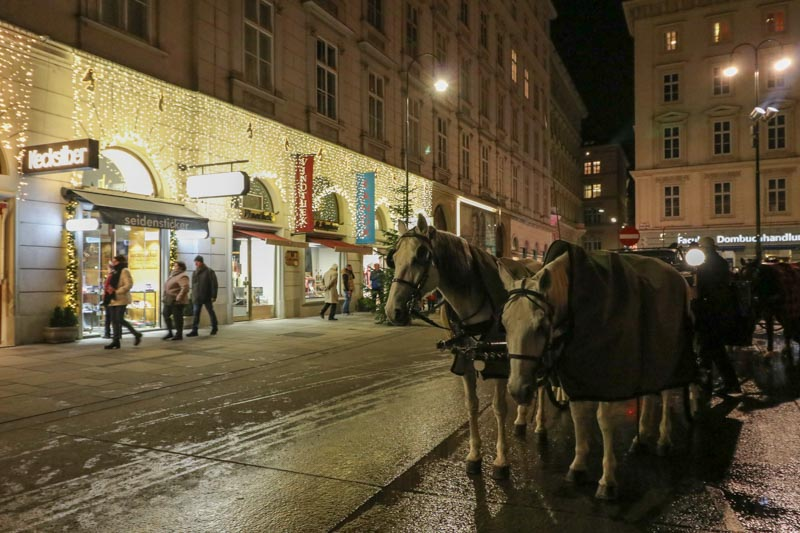 jarmarki w Wiedniu konie Stephansplatz
