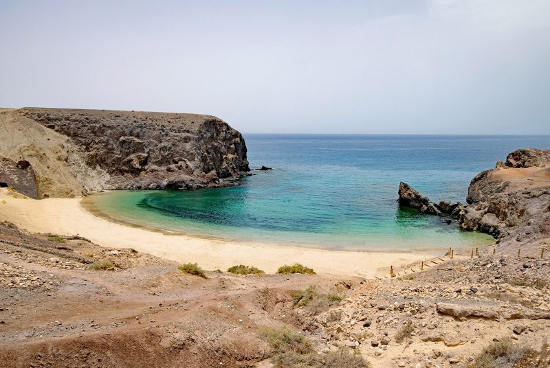 wyspy kanaryjskie lanzarote plaża papagayo