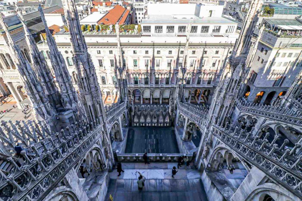 Katedra w Mediolanie widok z dachu
