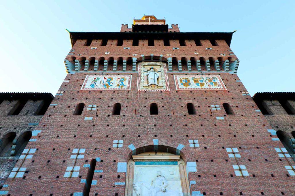 Mediolan atrakcje Zamek Sforzów