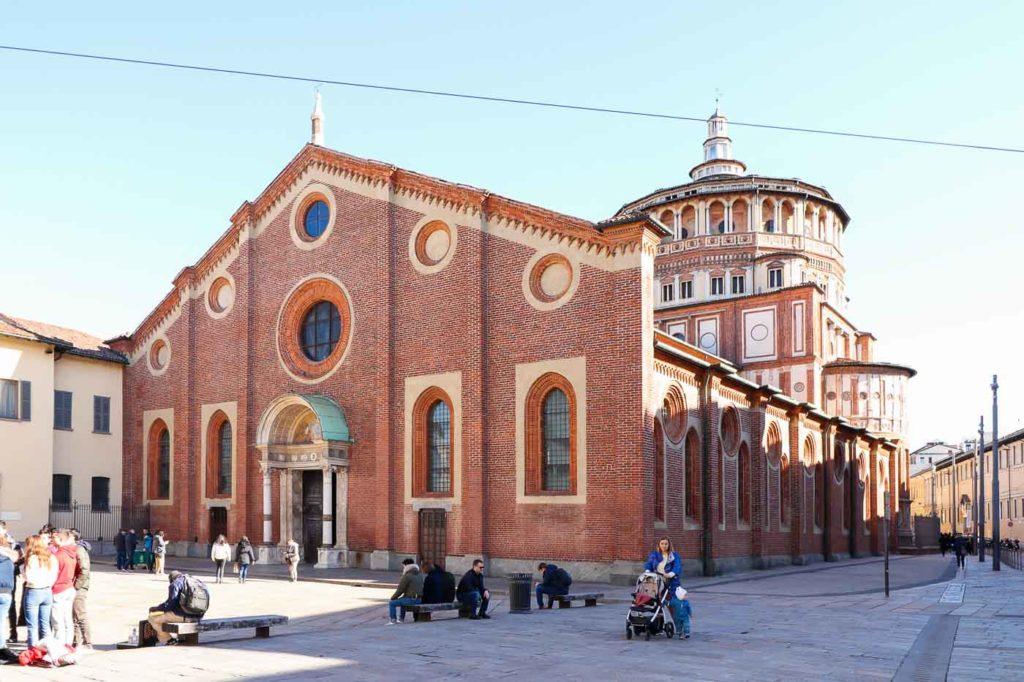 co zobaczyć w Mediolanie kościół Santa Maria delle Grazie