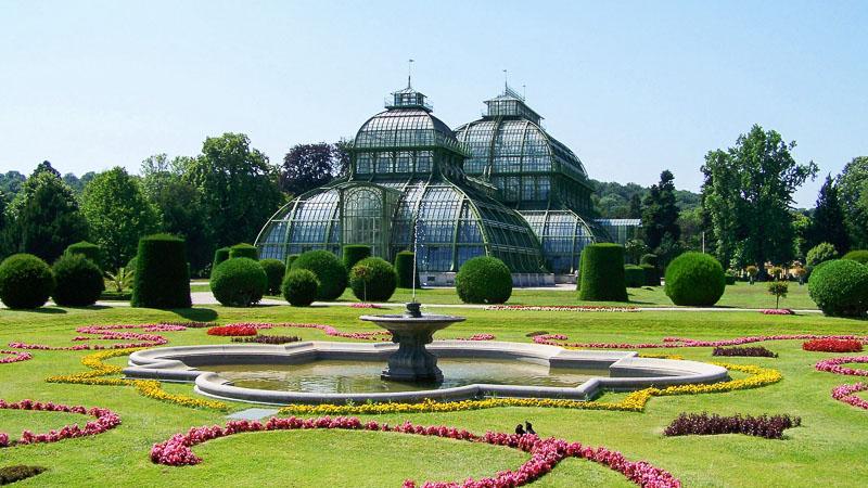 piękne ogrody na świecie schonbrunn austria