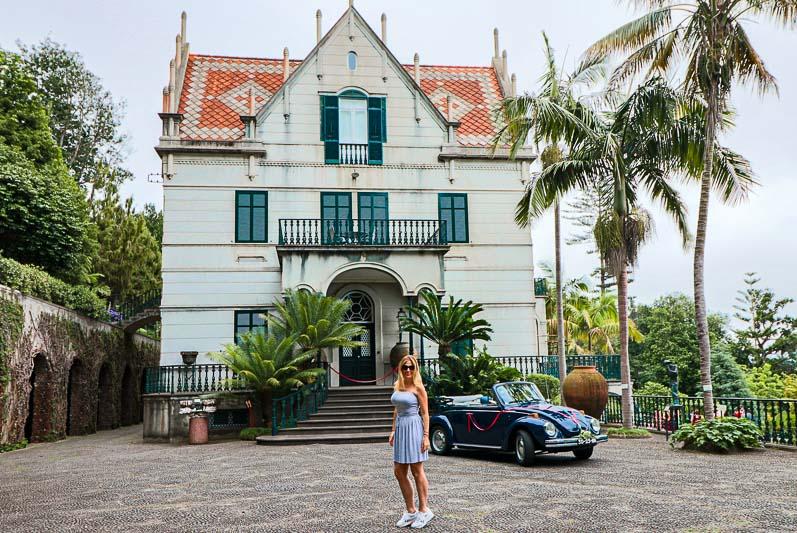 ogród przy pałacu Monte Madera