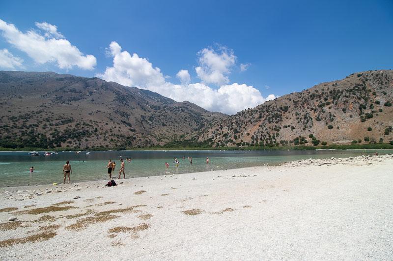jezioro kournas plaża