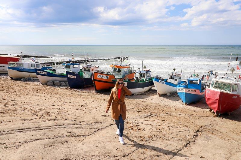 Jarosławiec plaża kutry