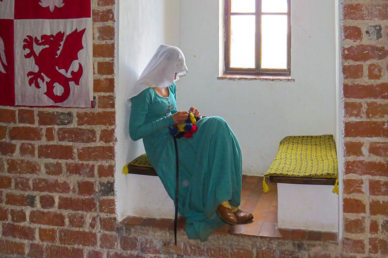 Czersk Zamek komnata sypialna