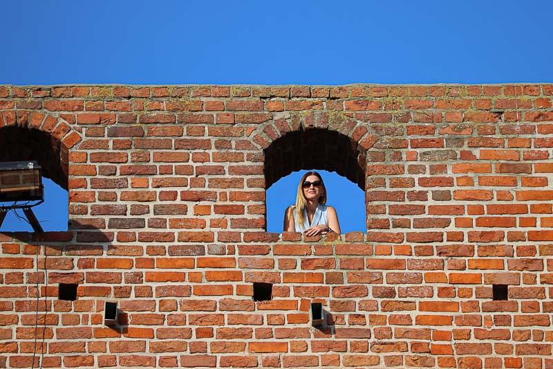 czers zamek wieża bramna