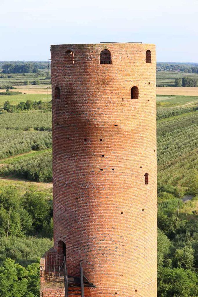 Czersk zamek wieża południowa