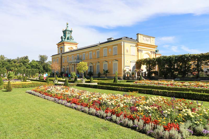 wilanów pałac ogród północny