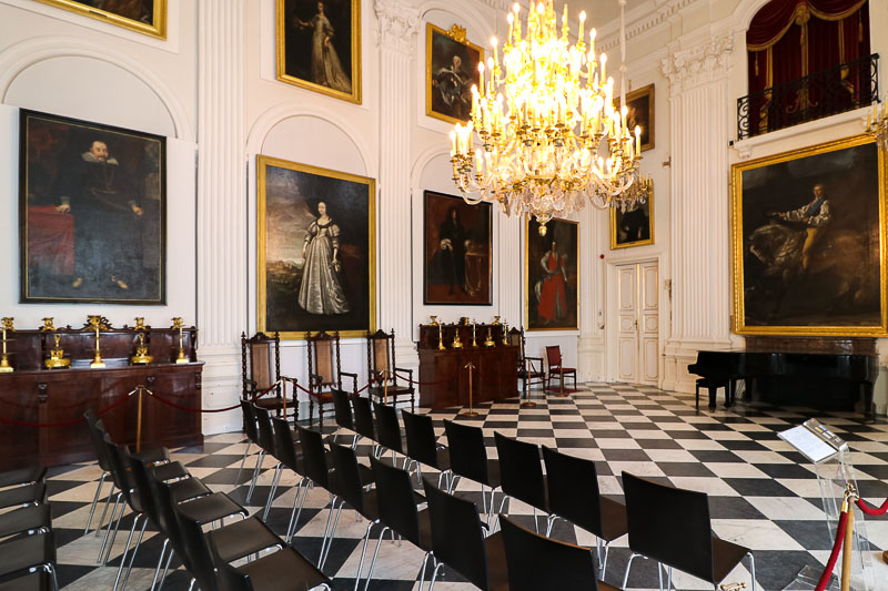 pałac w Wilanowie sala biała