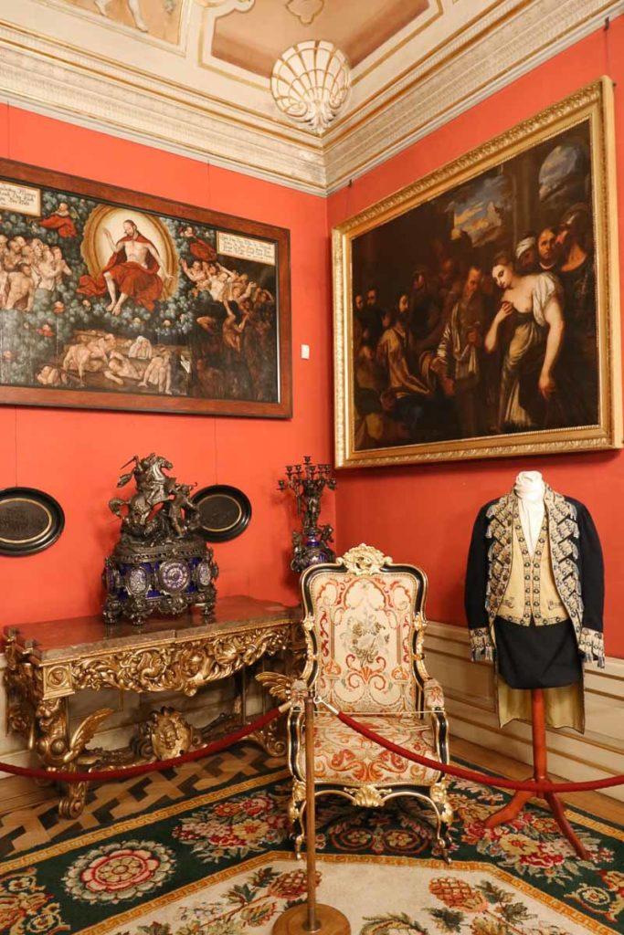 pałac wilanów galeria obrazów wnętrza
