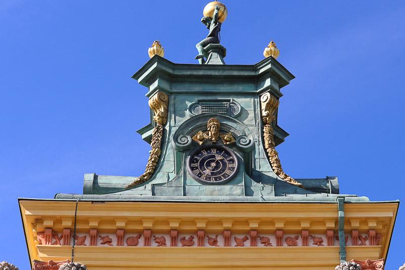 pałac w Wilanowie zegar
