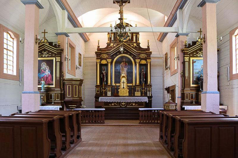 Skansen w Sierpcu wnętrze kościoła