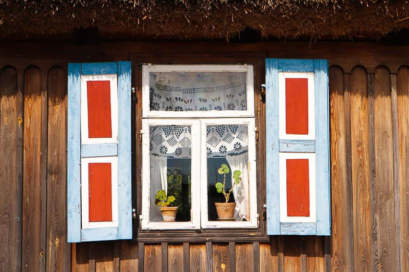 skansen w sierpcu okiennice