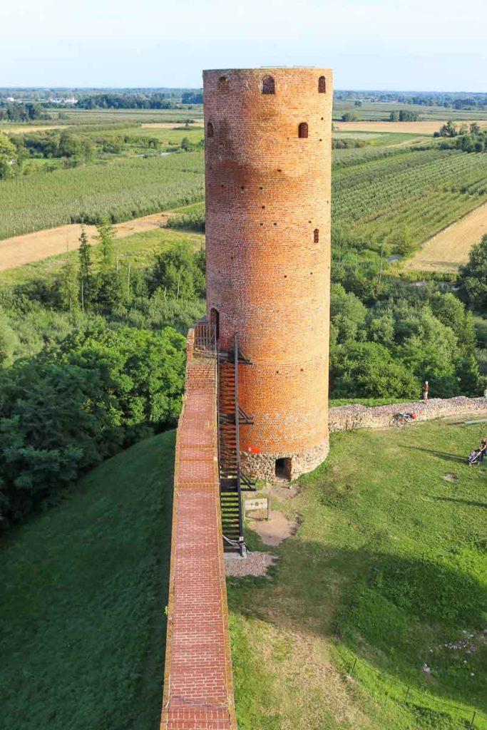 zamek Czersk wieża więzienna