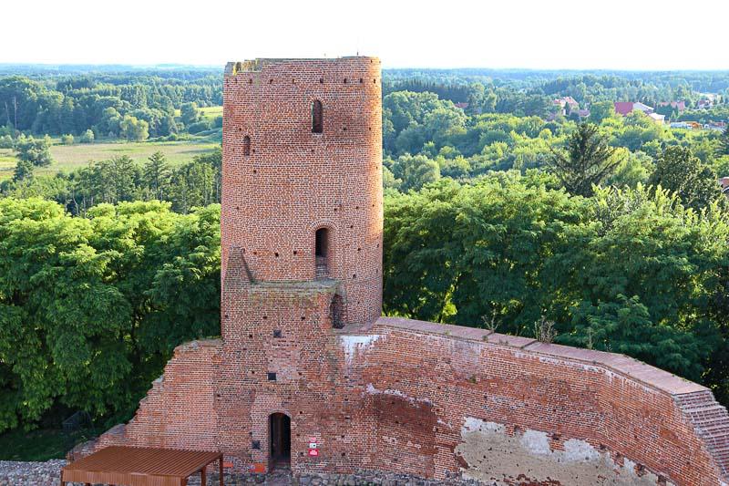 Zamek w Czersku wieża zachodnia