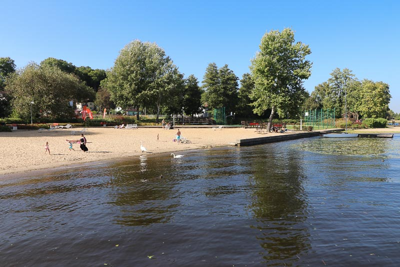 Zalew Zegrzyński plaża w Serocku Narew