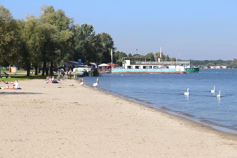 zalew zegrzyński dzika plaża w Nieporęcie