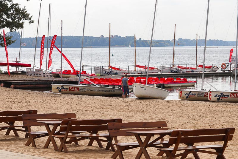 jezioro zegrzyńskie plaża Białobrzegi