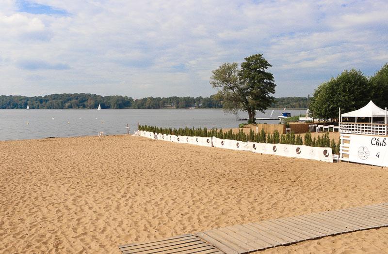 zalew zegrzyński plaża w Białobrzegach