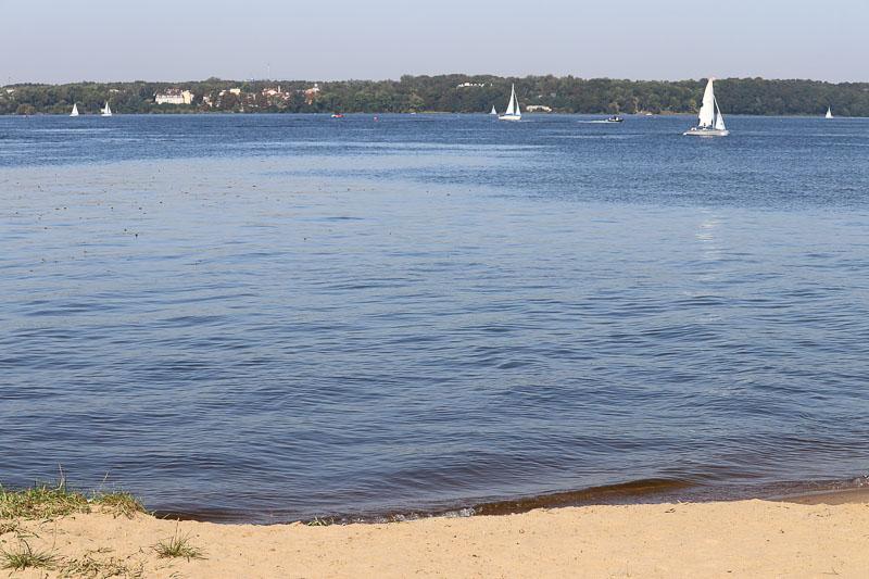 plaża Białobrzegi jezioro zegrzyńskie