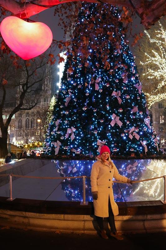 zwyczaje bożonarodzeniowe choinka w Wiedniu