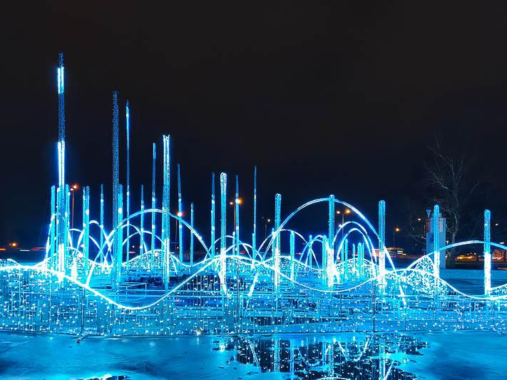 iluminacje warszawa multimedialny park fontann