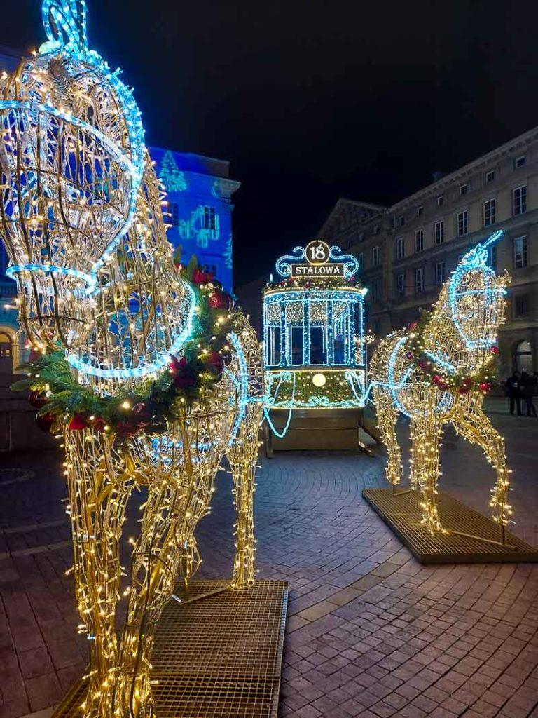 iluminacje krakowskie przedmieście w warszawie