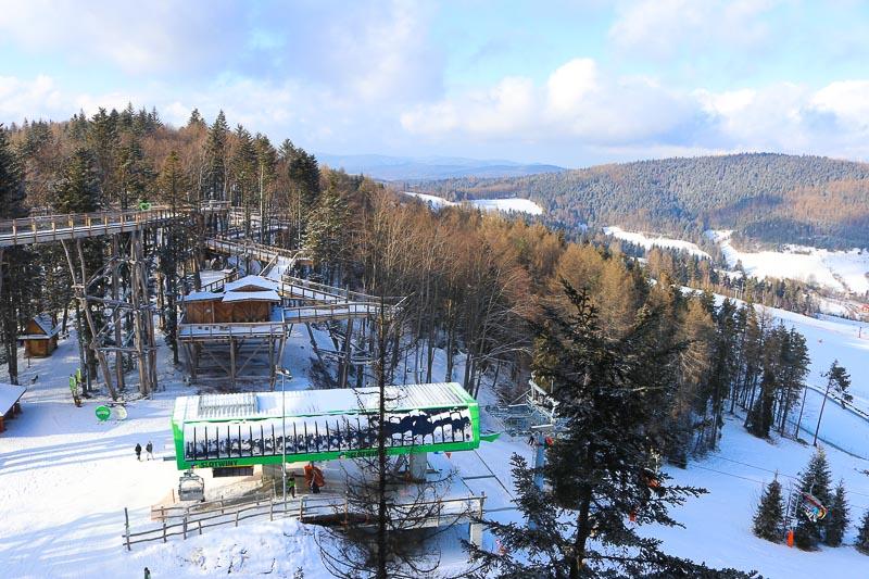 wieża widokowa stok narciarski słotwiny