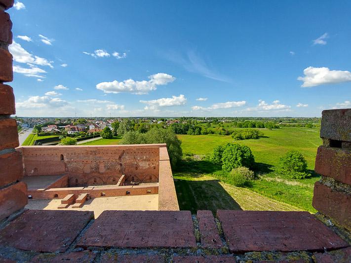 zamek w Ciechanowie widok z baszty