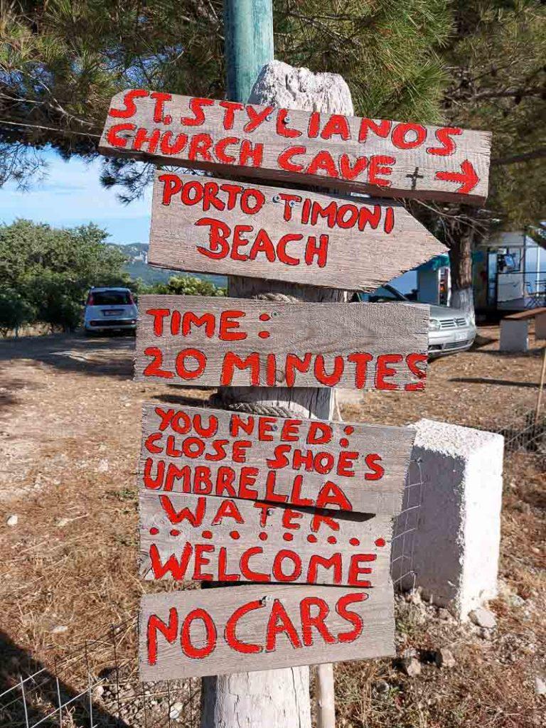afionas drogowskazy na szlak do porto timoni