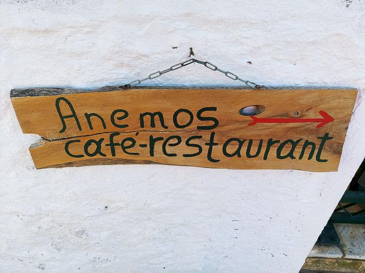 restauracja Anemos w Afionas