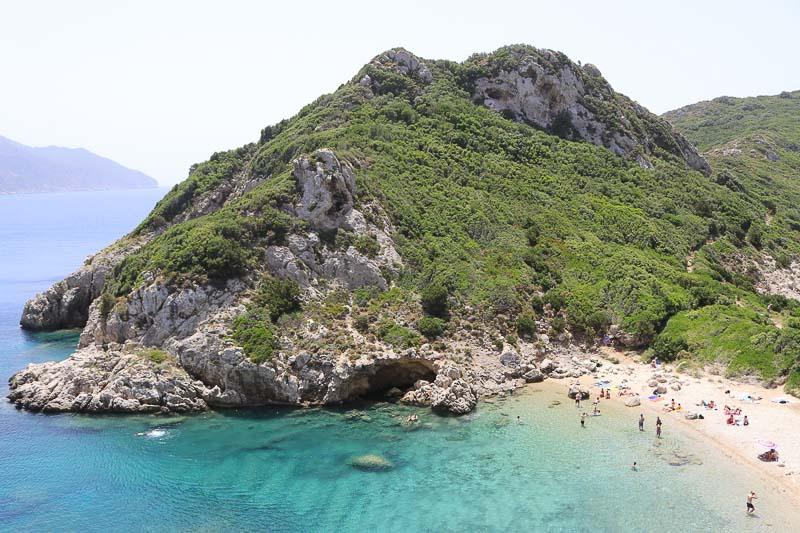 korfu porto timoni plaża