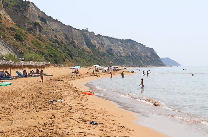 Korfu piaszczysta plaża gardenos