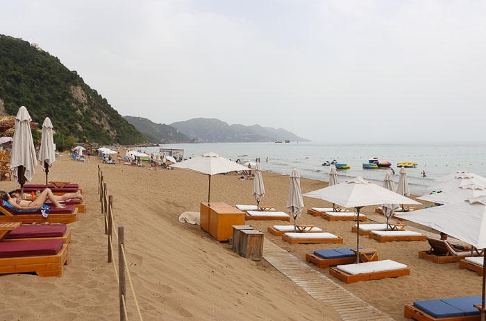 korfu plaża glyfada