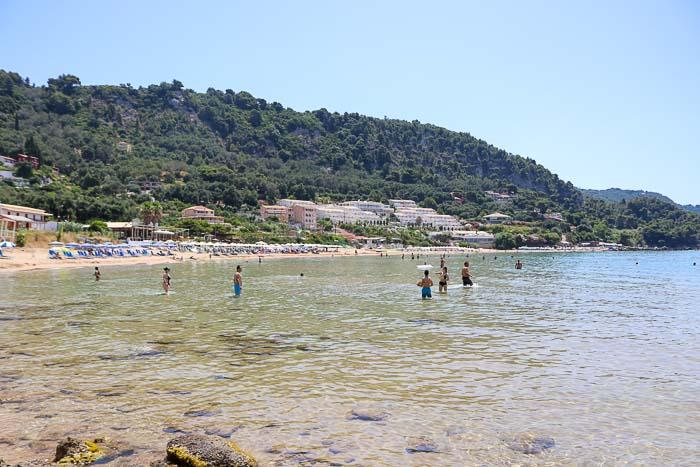 korfu plaża kontogialos