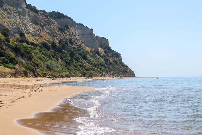 plaże na Korfu