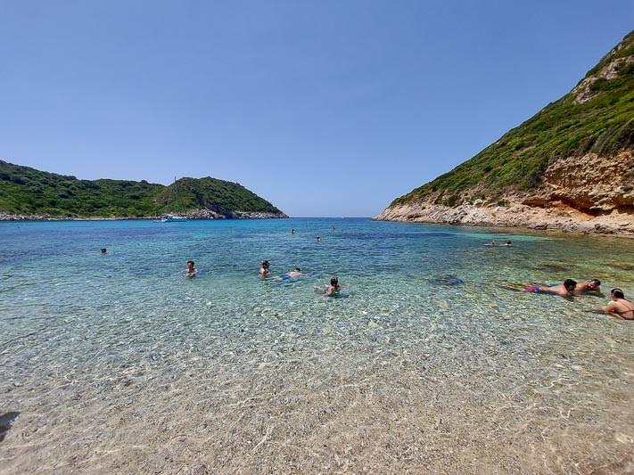 Korfu plaże porto Timoni