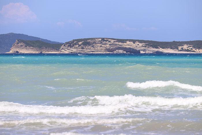 Korfu plaża Agios Stefanos